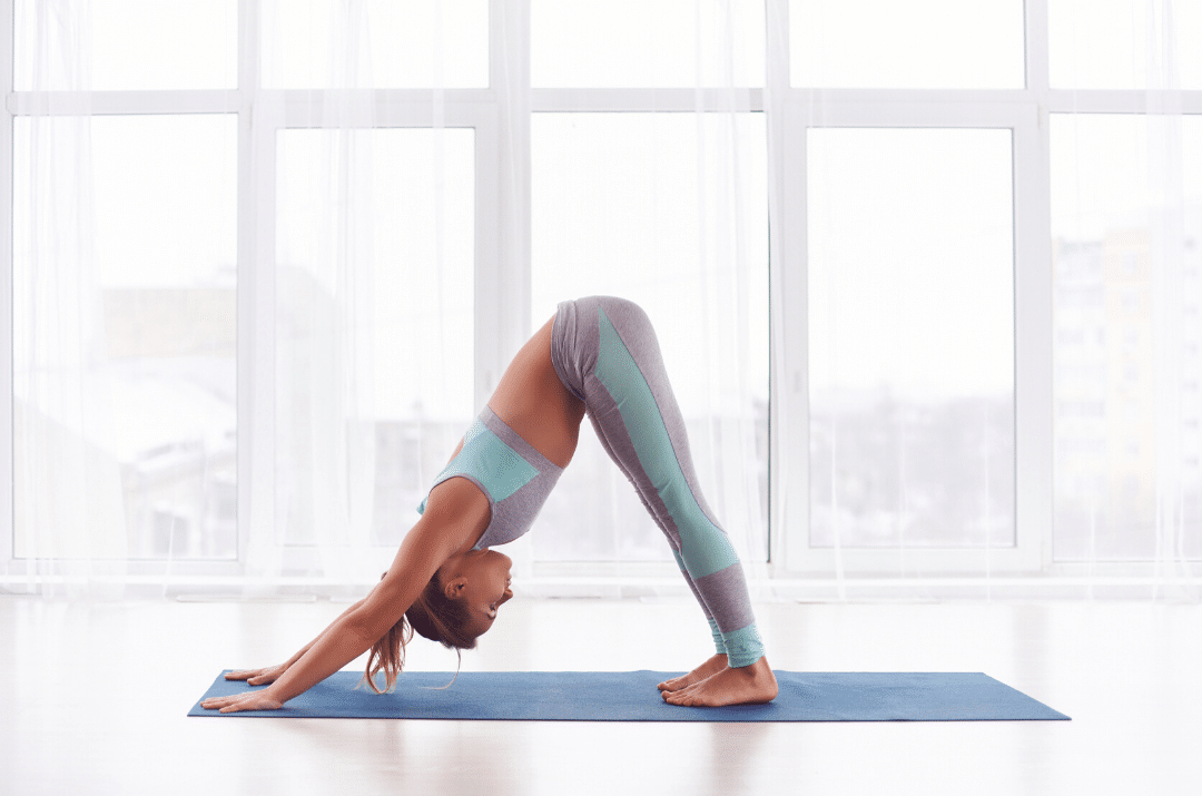 downward facing dog - yoga for lower back pain